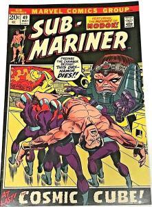 SUB-MARINER#49 FN/VF 1972 MARVEL BRONZE AGE COMICS