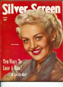 Silver Screen-Betty Grable-Lucille Ball-Doris Day-Richard Widmark-Mar-1951