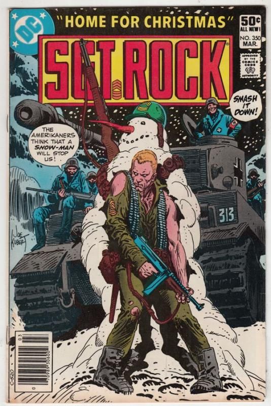Sgt. Rock #350 (Mar-81) NM- High-Grade Sgt. Rock and Easy Company