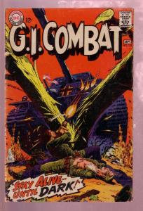G.I. COMBAT #125 1967- STAY ALIVE UNTIL DARK-RUSS HEATH G/VG