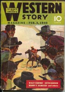 Western Stories 2/3/1940-HW Scott-Walt Coburn-pulp thrills-VG