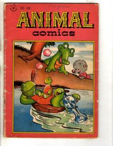 Animal Comics # 24 VG 1947 Dell Golden Age Comic Book Funny Aligator Turtle JL18