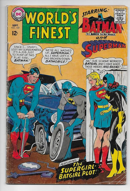 World's Finest #169 - Batman / Superman / Batgirl / Supergirl (DC, 1967) - VG
