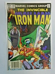 Iron Man #162 Newsstand 1st Series 8.0 VF (1982)