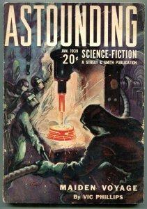Astounding Pulp January 1939- Vic Phillips- Warner Van Lorne