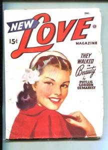 NEW LOVE-DEC 1946-ROMANTIC PULP FICTION-PIN-UP GIRL COVER-DEMAREST-vg minus