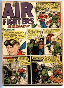 Air Fighters Vol. 2 #3 1943-Hillman-Nazi cover-Aviation comic book