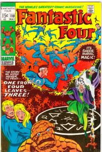 Fantastic Four #110 (May-71) FN/VF- Mid-High-Grade Fantastic Four, Mr. Fantas...