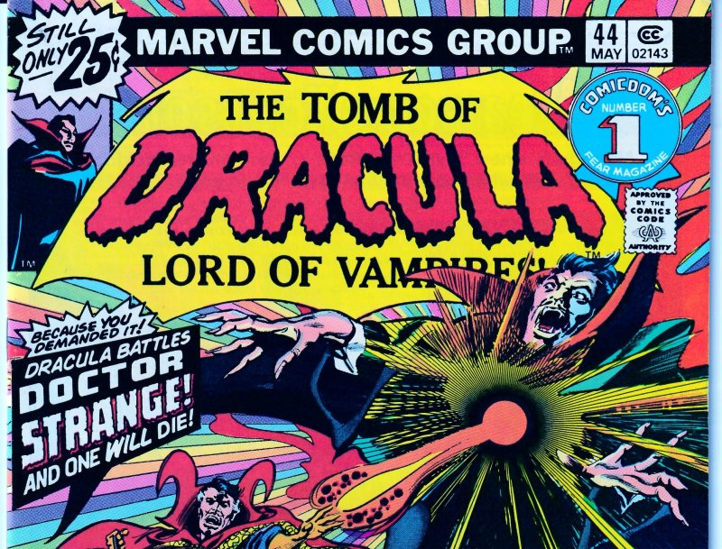 Tomb of Dracula(vol. 1) # 44    Doctor Strange  !!