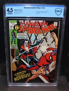 Amazing Spiderman #101 /  CBCS 4.5  VG+  /  1st Morbius /  Oct 1971