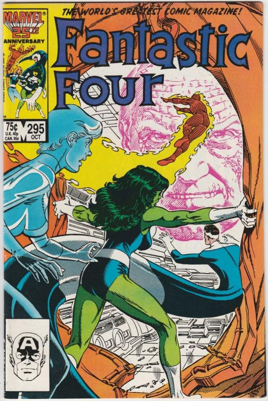 4 Fantastic Four Marvel Comic Books # 295 296 297 298 She-Hulk Human Torch J194
