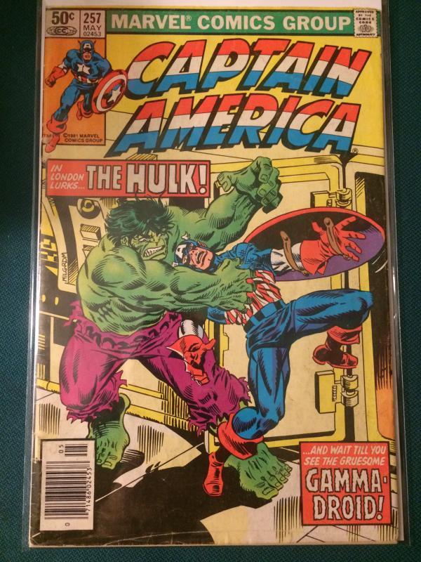 Captain America #257 In London lurks the Hulk!