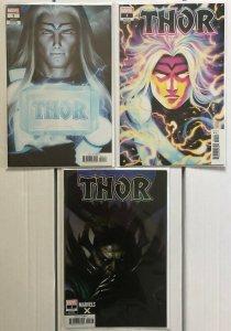 Thor #1 Variants 3 Book Lot Artgerm Bartel Brown