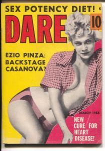 Dare 3/1955-Ezio Pinza-exploitation-mini mag-cheesecake-Sophia Loren-FN