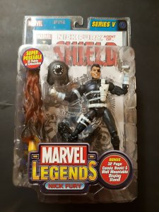Marvel Legends Series V Nick Fury Figure - Toy Biz - Sealed MOC