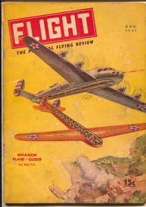 Flight #8 8/1941-Gernsback-fantasy air war cover & story-WWII-Curtis P-40-VG