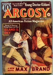 Argosy Pulp December 17 1938- Dr Kildare- Max Brand- Belarski cover FN