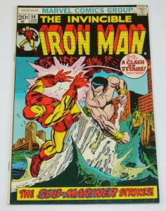 Iron Man (1st Series) #54 VF-; Marvel | save on shipping - moondragon