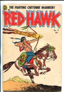 RED HAWK #11-1953-ME-INDIAN STORIES-BOB POWELL ART-good
