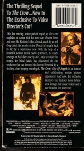 The Crow – City of Angels Director's Cut VHS   Iggy Pop ! Mia Kurshner !