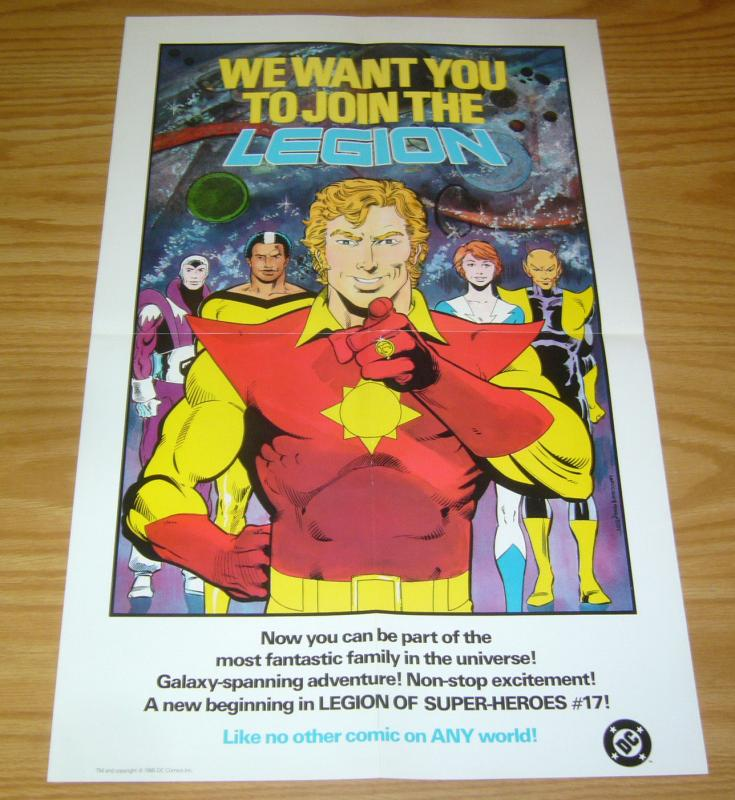 We Want You To Join The Legion of Super-Heroes poster - 22 x 14 - dc comics