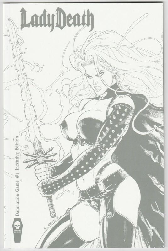 Lady Death Damnation Game #1 Incentive Edition (Coffin, 2016) NM