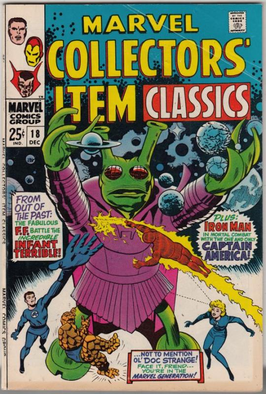 Marvel Collectors' Item #18 (Dec-68) FN/VF Mid-High-Grade Fantastic Four, Mr....