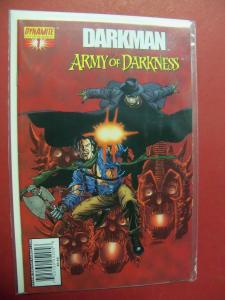 DARKMAN VS. ARMY OF DARKNESS  #1  (9.4 or better)  1ST PRINT