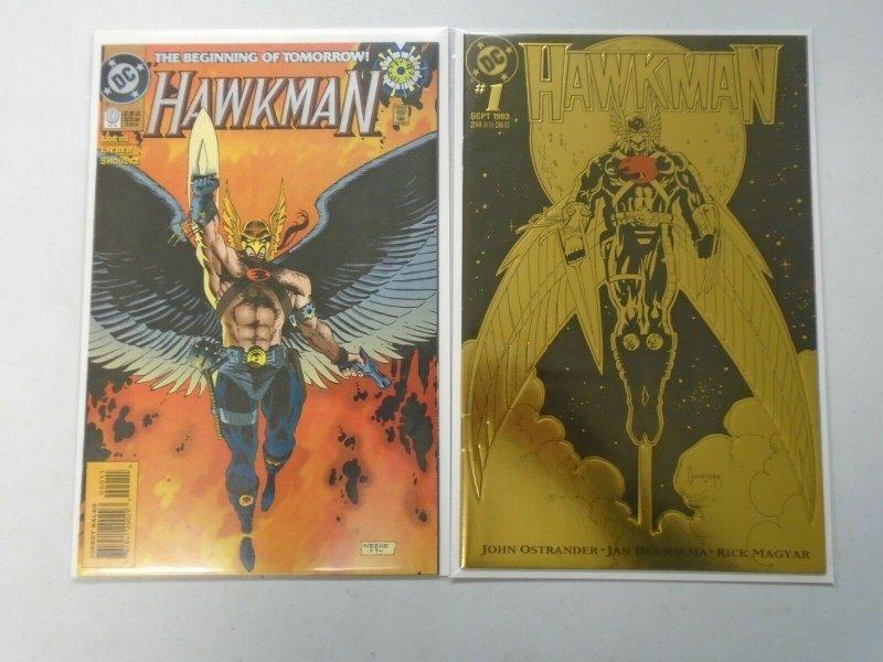 Hawkman (3rd Series) #0 + #1 8.0 VF (1993)