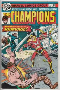 Champions, The #5 (Apr-76) NM- High-Grade Ghost Rider, Hercules, Black Widow,...