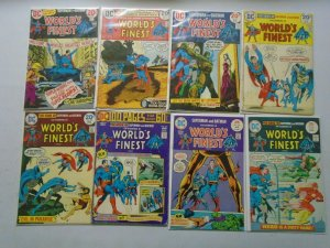 Bronze age World's Finest lot 20 different from #218-243 avg 4.0 VG (1973-77)