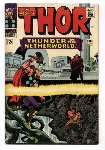THOR #130 comic book 1966-MARVEL COMICS-KIRBY hercules fn-