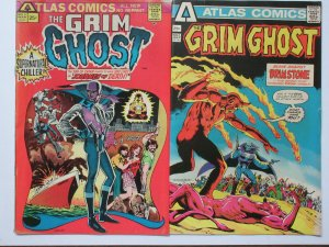 Grim Ghost (Atlas 1975) #2, 3 The Devil's Emissary from Hell Sinners Beware!