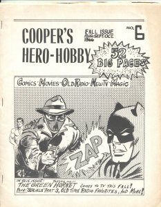 COOPER'S HERO-HOBBY #6-1966-BATMAN-GREEN HORNET-REPUBLIC SERIALS-COMICS-MAGIC