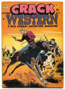 Crack Western #74 1951- The Whip- Golden Age FN