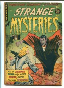 STRANGE MYSTERIES #3 1952-SUPERIOR-VAMPIRE-SEDUCTION OF THE INNOCENT-HORROR-vg-