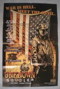 UNKNOWN SOLDIER Promo Poster, 22x34, 1997, Unused, more Promos in store