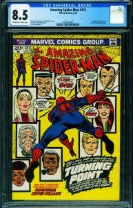 Amazing Spider-man #121 1973- CGC 8.5- Death of Gwen Stacy- 2030202001