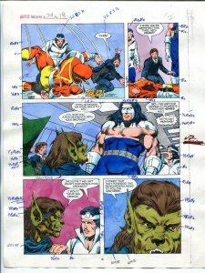 Justice Machine #24 Page #18 1988 Original Color Guide