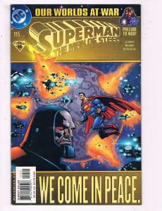 Superman The Man Of Steel #115 VF DC Our Worlds At War Comic Book DE10