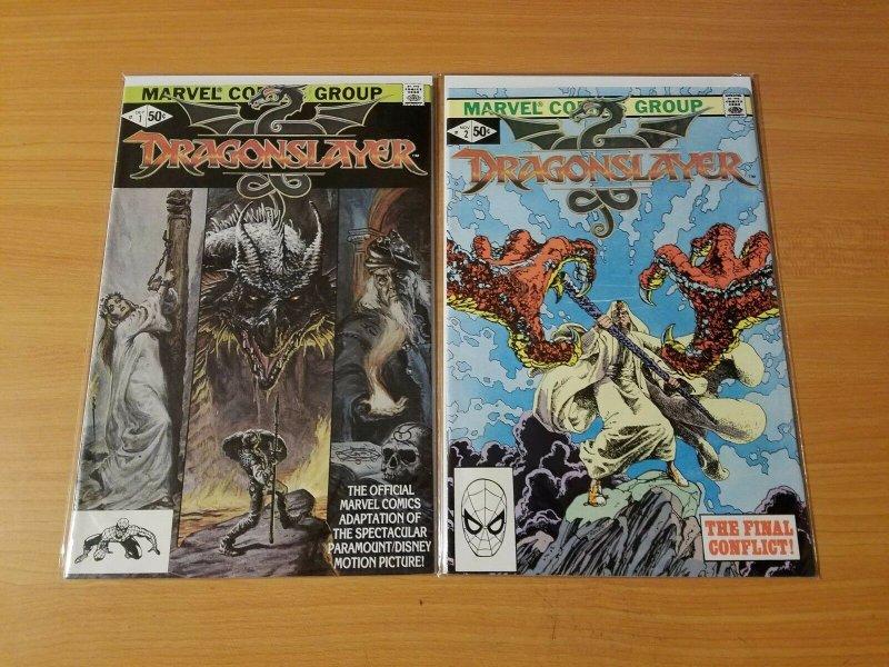 Dragonslayer 1-2 Complete Set Run! ~ NEAR MINT NM ~ 1981 Marvel Comics