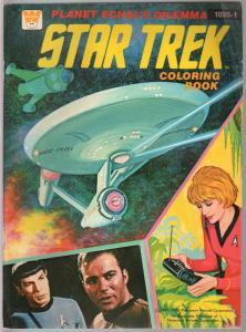 Star Trek Coloring Book #1035-1 1975-William Shatner-Leonard Nimoy-VG