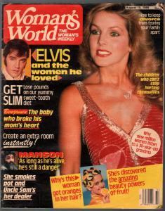 Woman's World 8/15/1989-Elvis-Priscilla Presley-Charles Manson-VG