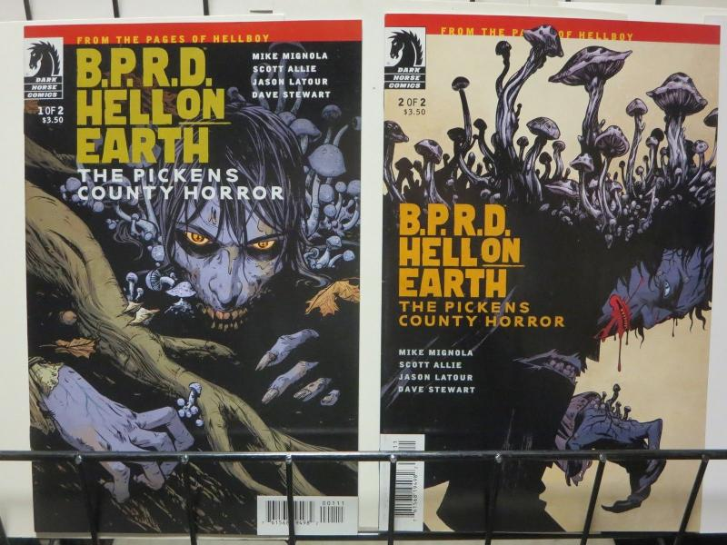 BPRD HELL ON EARTH PICKENS COUNTY HORROR (2012 DH) 1-2 COMICS BOOK