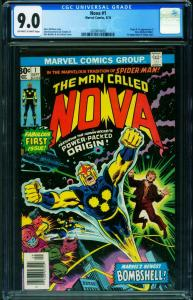 NOVA #1 9.0 cgc First Nova Guardians of the Galaxy 1976 2020816002