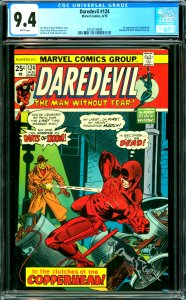 Daredevil #124 CGC Graded 9.4 1st appearance of Copperhead. Daredevil and Bla...