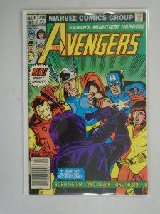 Avengers #218 Newsstand edition 6.0 FN (1982 1st Series)