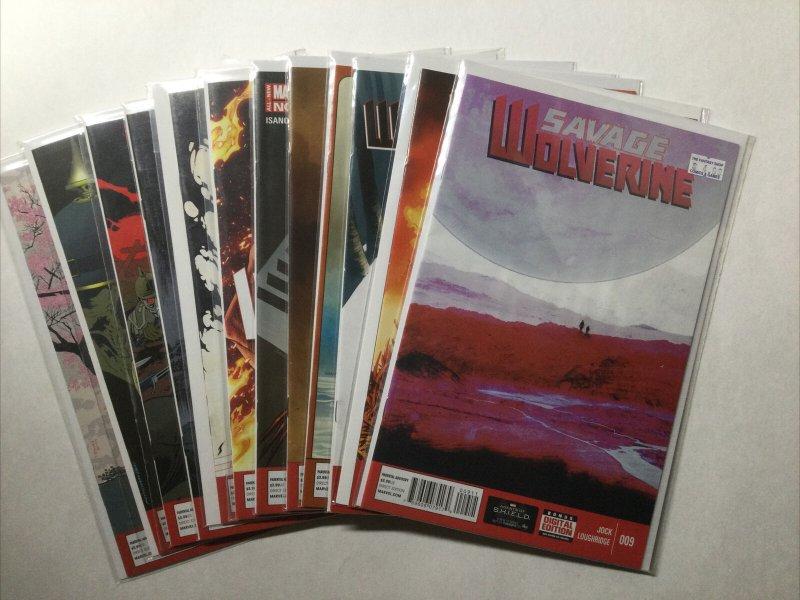 Savage Wolverine 9 13-23 Lot Run Set Near Mint Nm Marvel