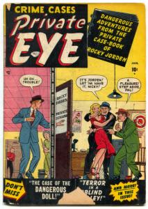Private Eye #1 1951-Atlas-1st issue-George Tuska art- G