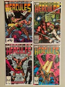 Hercules Prince of Power Set # 1-4 1st Series 6.0 FN (1982)